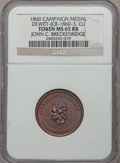 U.S. Presidents & Statesmen, 1860 John C. Breckenridge Campaign Medal MS65 Red and Brown NGC.DeWitt-JCB-1860-3. Copper....