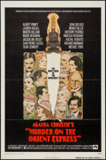 """Movie Posters:Mystery, Murder on the Orient Express (Paramount, 1974). One Sheet (27"""" X41"""") & Lobby Card Set of 8 (11"""" X 14""""). Mystery.. ... (Total: 9Items)"""