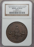 Betts Medals, 1739 Admiral Vernon, Cartagena AU50 NGC. Betts-332, Adams-ChaoCAv-2-B, R.5. 38 mm. Copper. Incorrectly attributed by NG...