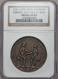 Betts Medals, 1741 Admiral Vernon, Cartagena, Ogle XF45 NGC. Betts-318,Adams-Chao CAvo-3-D, R.5. 37.4 mm. Brass....