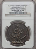 Betts Medals, (circa 1740) Admiral Vernon, Porto Bello, Icons AU50 NGC.Betts-238, Adams-Chao PBvi-11-P, R.6....