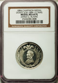 U.S. Presidents & Statesmen, 1884 James G. Blaine Campaign Medal MS64 Prooflike NGC.DeWitt-JGB-1884-13. White metal....