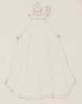 Animation Art:Production Drawing, Snow White and the Seven Dwarfs Evil Queen Drawing (WaltDisney, 1937)....