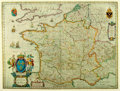 """Books:Maps & Atlases, [Maps]. Modern Reproduction of a Map of France. Measures 24.75"""" x 16"""". Some handling wear to edges. Very good. ..."""