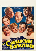 """Movie Posters:Western, Stagecoach (United Artists, 1940s). Post-War Belgian (11"""" X 15.5"""").. ..."""