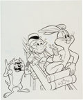 Original Comic Art:Covers, Golden Comics Digest #47 Bugs Bunny Cover Original Art (GoldKey, 1975).... (Total: 2 Items)