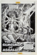 Original Comic Art:Splash Pages, Alfredo Alcala Savage Sword of Conan #89 Page 1 Original Art(Marvel, 1983)....