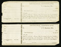 Confederate Notes:Group Lots, Interim Depositary Receipt (Washington, AR) 1864-65 Two ExamplesRemainders Tremmel AR-24.. ... (Total: 2 items)