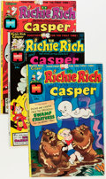 Bronze Age (1970-1979):Cartoon Character, Richie Rich and Casper #1-45 Complete Run Group (Harvey, 1974-82) Condition: Average NM-.... (Total: 45 Comic Books)