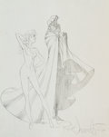 Original Comic Art:Sketches, Rick Leonardi Cloak and Dagger Sketch Original Art (1984)....