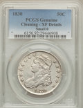 Bust Half Dollars: , 1830 50C Small 0 -- Cleaning -- PCGS Genuine. XF Details. NGCCensus: (123/1560). PCGS Population (165/1318). Mintage: 4,76...