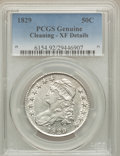 Bust Half Dollars: , 1829 50C -- Cleaning -- PCGS Genuine. XF Details. NGC Census:(85/1022). PCGS Population (174/1146). Mintage: 3,712,156. Nu...