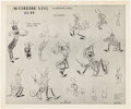 animation art:Model Sheet, Woodland Cafe Animation Model Sheet Group (Walt Disney,1937).... (Total: 7 Items)