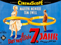 "Movie Posters:Comedy, The Seven Year Itch (20th Century Fox, 1955). Full-Bleed German A0(33.5"" X 45"").. ..."