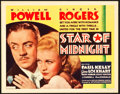 "Movie Posters:Mystery, Star of Midnight (RKO, 1935). Title Lobby Card (11"" X 14"").. ..."