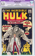 Silver Age (1956-1969):Superhero, The Incredible Hulk #1 (Marvel, 1962) CGC Apparent FN- 5.5Extensive (P) White pages....