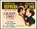 "Movie Posters:Drama, Quality Street (RKO, 1937). Title Lobby Card (11"" X 14"").. ..."
