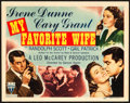 "Movie Posters:Comedy, My Favorite Wife (RKO, 1940). Title Lobby Card (11"" X 14"").. ..."