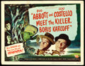 "Movie Posters:Comedy, Abbott and Costello Meet the Killer, Boris Karloff (UniversalInternational, 1949). Title Lobby Card (11"" X 14"").. ..."