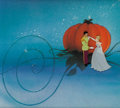Animation Art:Production Cel, Cinderella Prince and Cinderella Key Scene Production Cel(Walt Disney, 1950)....