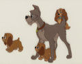 Animation Art:Production Cel, Lady and the Tramp Puppies Production Cel (Walt Disney,1955)....