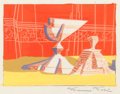 Animation Art:Production Drawing, Maurice Noble Road Runner/Wile E. Coyote Short Background Concept/Color Key Painting (Warner Brothers, 1950s)....