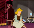 Animation Art:Production Cel, Cinderella Glass Slipper Key Scene Production Cel andBackground (Walt Disney,1950)....