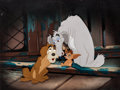 Animation Art:Production Cel, Lady and the Tramp Boris, Pedro, and Toughy Production Cel(Walt Disney, 1955)....