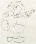 Animation Art:Production Drawing, Donald Gets Drafted Donald Duck Production Drawing (WaltDisney, 1942)....