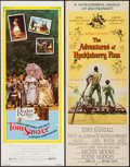 "Movie Posters:Adventure, The Adventures of Huckleberry Finn & Other Lot (MGM, 1960).Inserts (2) (14"" X 36""). Adventure.. ... (Total: 2 Items)"