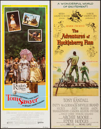 """The Adventures of Huckleberry Finn & Other Lot (MGM, 1960). Inserts (2) (14"""" X 36""""). Adventure. ... (T..."""