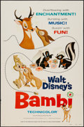"""Movie Posters:Animation, Bambi (Buena Vista, R-1975). One Sheet (27"""" X 41"""") Style A. Animation.. ..."""