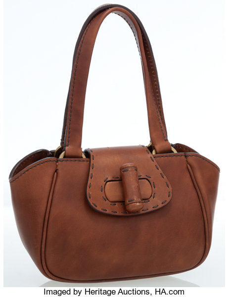 639fabe8d2f8 Prada Brown Leather Mini Handle Bag Luxury Accessories Bags. Jjcollection  ...