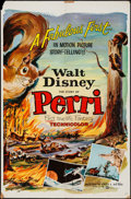 """Movie Posters:Adventure, Perri & Other Lot (Buena Vista, 1957). One Sheets (2) (27"""" X41"""") Regular & Style A, & Insert (14"""" X 36""""). Adventure..... (Total: 3 Items)"""