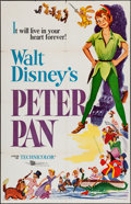 """Movie Posters:Animation, Peter Pan (Buena Vista, R-1958). One Sheet (27"""" X 41""""). Animation.. ..."""