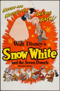 "Movie Posters:Animation, Snow White and the Seven Dwarfs & Other Lot (Buena Vista,R-1958). One Sheets (2) (27"" X 41""). Animation.. ... (Total: 2Items)"