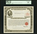 Serial Number 8 $100,000 United States Treasury Bond Due August 15, 1963 PCGS Very Choice New 64