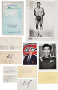 Autographs:Index Cards, 1970's-1990's Sports, Astronauts & Celebrities Signed Business Cards & Misc. Lot of 400....
