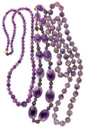 Estate Jewelry:Lots, Lot of Amethyst Bead Necklaces. ... (Total: 3 Items)