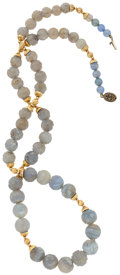 Estate Jewelry:Necklaces, Agate, Chalcedony, Gold, Silver Necklace. ...