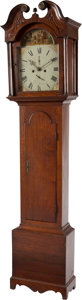 Decorative Arts, British:Other , A GEORGE III MAHOGANY TALL CASE CLOCK, Robert McArra, Dunfermline,Scotland, circa 1810. 82 x 20-1/2 x 10-1/2 inches (208.3 ...(Total: 3 Items)