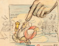 Animation Art:Production Drawing, Gulliver's Travels King Little Concept Drawing (Max Fleischer, 1939)....