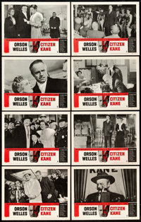 "Citizen Kane (RKO, R-1956). Lobby Card Set of 8 (11"" X 14""). ... (Total: 8 Items)"