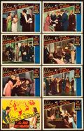 """Movie Posters:Comedy, The Mad Miss Manton (RKO, 1938). Lobby Card Set of 8 (11"""" X 14"""")..... (Total: 8 Items)"""