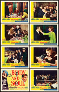 """Movie Posters:Film Noir, Body and Soul (United Artists, 1947). Lobby Card Set of 8 (11"""" X 14"""").. ... (Total: 8 Items)"""