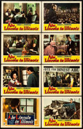 "Movie Posters:Drama, Abe Lincoln in Illinois (RKO, 1940). Lobby Card Set of 8 (11"" X14"").. ... (Total: 8 Items)"