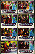 "Movie Posters:Horror, Bedlam (RKO, 1946). Lobby Card Set of 8 (11"" X 14"").. ... (Total: 8Items)"