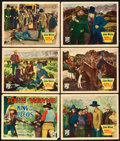"Movie Posters:Western, King of the Pecos (Republic, 1936). Title Lobby Card and Lobby Cards (5) (11"" X 14"").. ... (Total: 6 Items)"