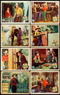 "Movie Posters:Western, Blue Steel (Monogram, 1934). Lobby Card Set of 8 (11"" X 14"").. ...(Total: 8 Items)"