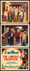 """Movie Posters:Western, The Lawless Frontier (Monogram, 1934). Title Lobby Card and Lobby Cards (2) (11"""" X 14"""").. ... (Total: 3 Items)"""